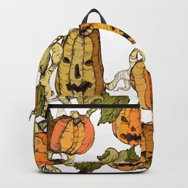 halloween party pumpkin Backpack