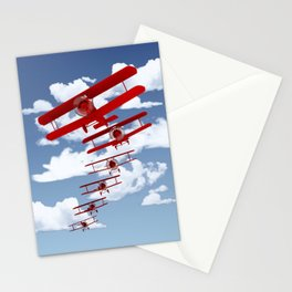 Retro Biplanes Stationery Cards
