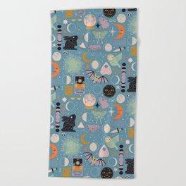 Lunar Pattern: Blue Moon Beach Towel