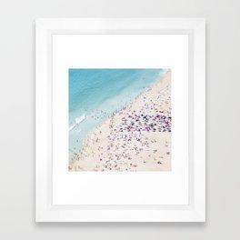 beach - summer love Framed Art Print