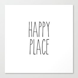 Happy Place Saying Canvas Print