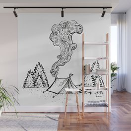 Lets go Camping Wall Mural
