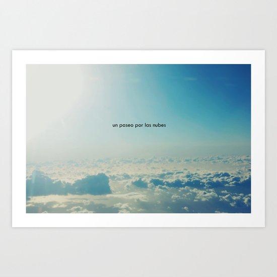 Un paseo por las nubes Art Print