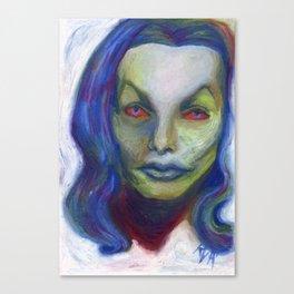 Blue Vampira. Canvas Print