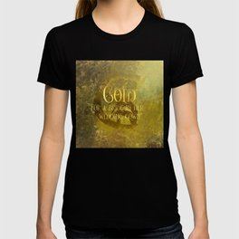 GOLD for a bride in her wedding gown. Shadowhunter Children's Rhyme. T-shirt
