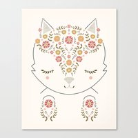 meow Canvas Prints featuring MEOW by Kelli Murray