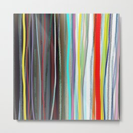Shower Curtain Hippie Curtains,Boho curtain,Gypsy,Striped CURTAIN Rustic,Fabric,Ribbon Rainbow,Tee Metal Print