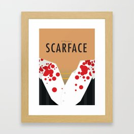 Scarface - Minimalist Poster Framed Art Print