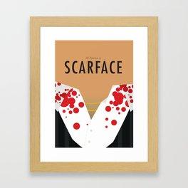 Scarface - Minimalist Poster Framed Art Print