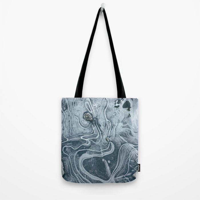 Frozen Marble Tote Bag