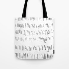 Cussed in Lines Tote Bag