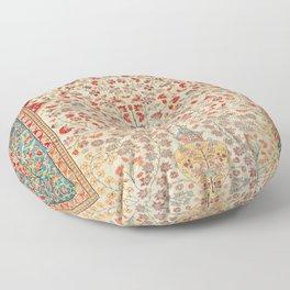 Kashan Central Persian Rug Print Floor Pillow