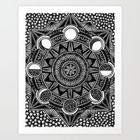 lunar Art Prints featuring lunar by Yuki Sambongi