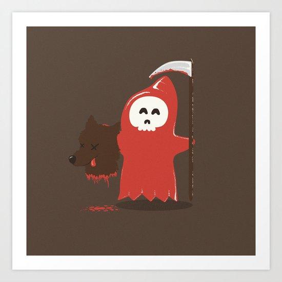 Little Death Riding Hood Art Print