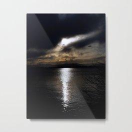 Sun Slice Metal Print