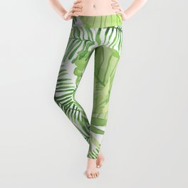 Tropical Branches Pattern 09 Leggings