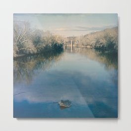 Monocacy River Square Metal Print