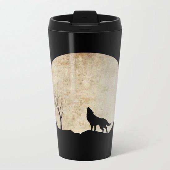 Wolf night Metal Travel Mug