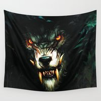 beast Wall Tapestries featuring Beast Animal by bimorecreative