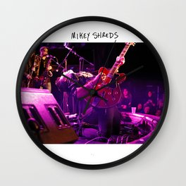 Birds in the Boneyard, Print Two: Mikey Shreds Wall Clock