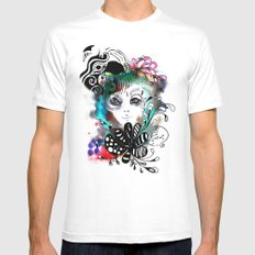 funny girl Mens Fitted Tee MEDIUM White