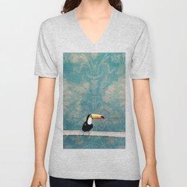 toucano tropical blue Unisex V-Neck