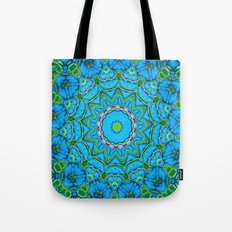 Lovely Healing Mandalas in Brilliant Colors: Blue, Green, Yellow, and Pink Tote Bag