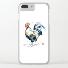 Rooster - Eary Riser Clear iPhone Case