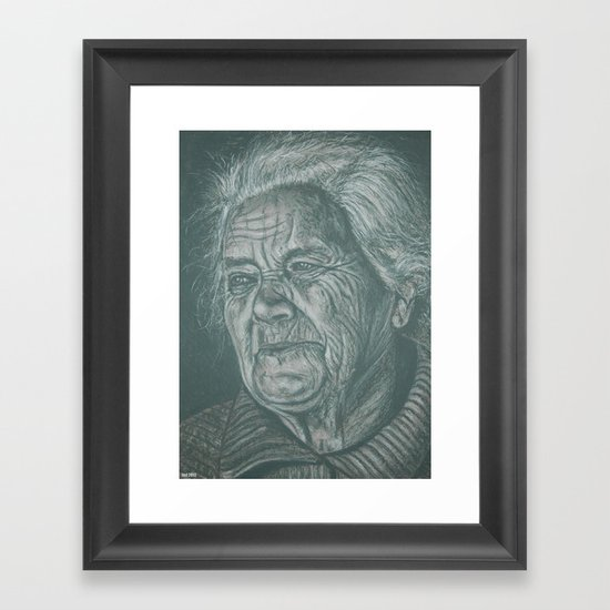 much love grandma! Framed Art Print