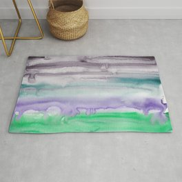 7    190907   Watercolor Abstract Painting Rug