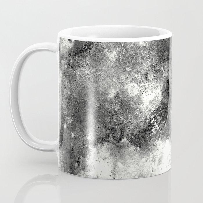 Deja Vu - Black and white, textured painting Coffee Mug