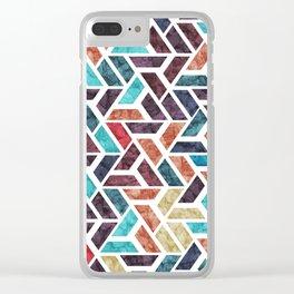 Seamless Colorful Geometric Pattern XVI Clear iPhone Case