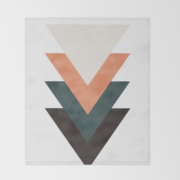 Abstract Triangles Throw Blanket