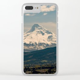 Mountain Valley Pacific Northwest - Nature Photography Clear iPhone Case