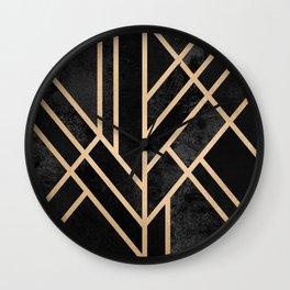 Art Deco Black Wall Clock