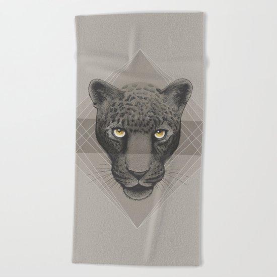 Eternal   Leopard Beach Towel