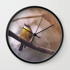 Feathers of the Sun Wall Clock