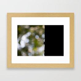 Silhouette at Sunset Framed Art Print
