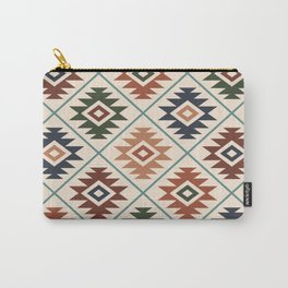 Aztec Symbol Pattern Col Mix Carry-All Pouch