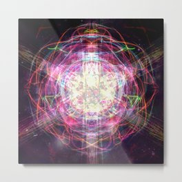 Worm Hole Metal Print