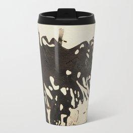 Ink drawing - abstract pattern Travel Mug