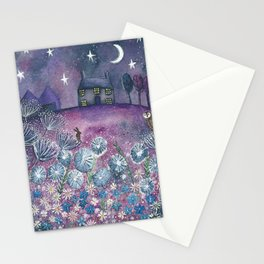 Watching the Stars Stationery Cards