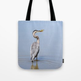 Great Blue Heron Fishing - I Tote Bag