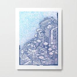 Shroom City Metal Print