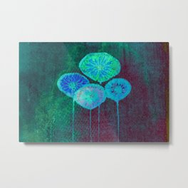 stylized colorful flowers Metal Print