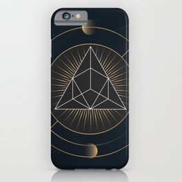 Triangle Geometric Portrait Home Decor Wall Art Collection iPhone Case