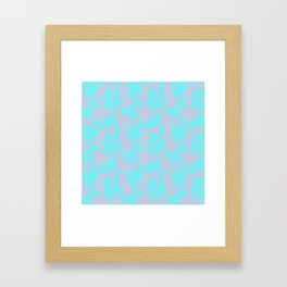 Pink teal abstract fantasy Framed Art Print