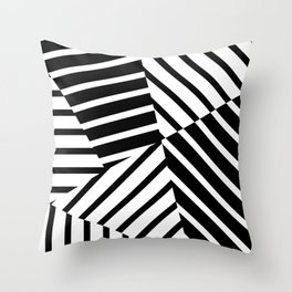 Abstract Striped Triangles Throw Pillow