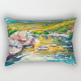 Bridge in the mountains Rectangular Pillow