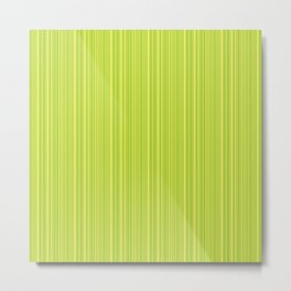 Lime Green Pinstripe Metal Print